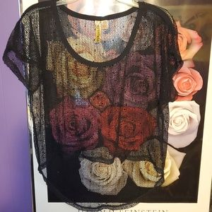 Eyeshadow Ho-Low Mesh Tee Sz XL NEW
